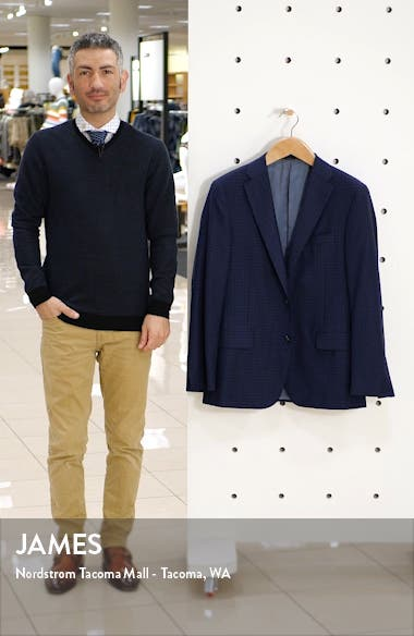 Beacon Classic Fit Check Wool Sport Coat, sales video thumbnail
