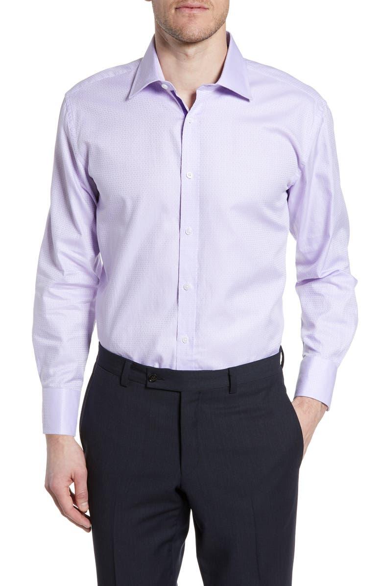 ENGLISH LAUNDRY Trim Fit Geometric Dress Shirt, Main, color, 531