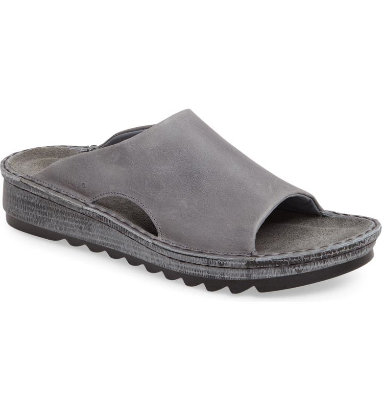 NAOT 'Ardisia' Slide Sandal, Main, color, VINTAGE SLATE LEATHER