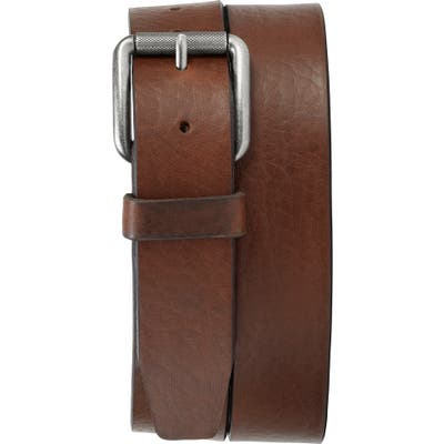 Trask Cash Leather Belt, Saddle