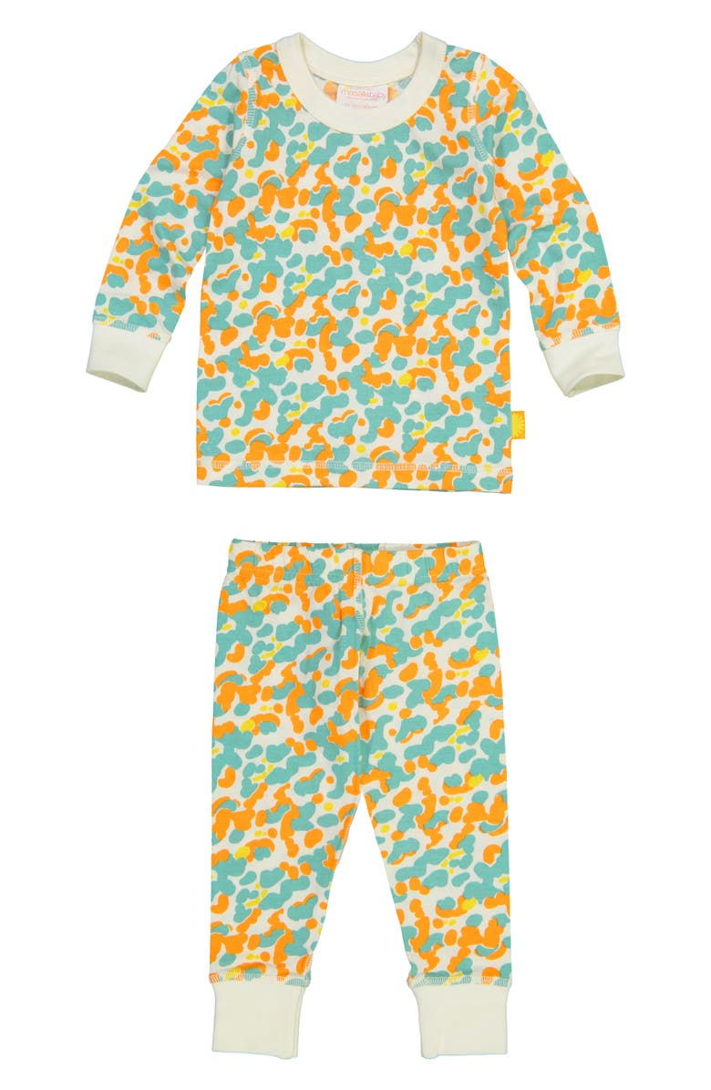 MASALA BABY Organic Cotton Fitted Two-Piece Pajamas, Main, color, BLUE