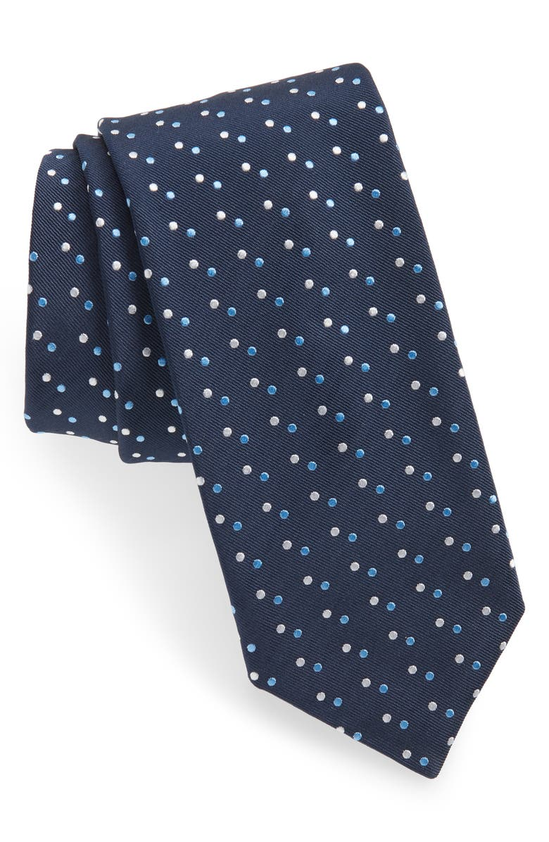 BOSS Double Dot Tie, Main, color, BLUE