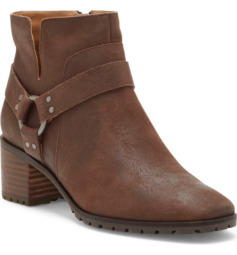 LUCKY BRAND Jansic Bootie, Main, color, WALNUT LEATHER