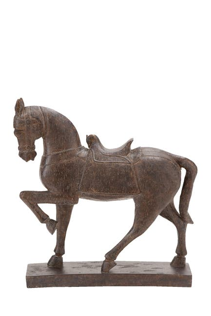 Image of Willow Row Traditional Resin Prancing Horse Sculpture