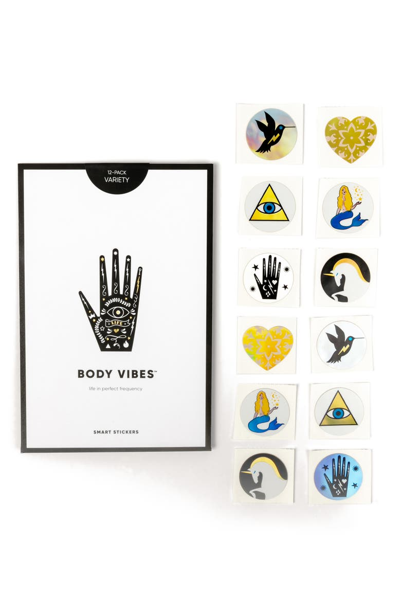 BODY VIBES Sacred 6 Set of 12 Stickers, Main, color, 000