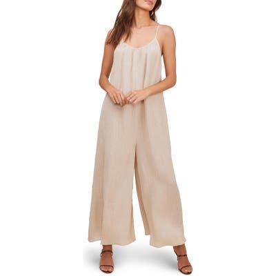 Astr The Label Suraya Wide Leg Jumpsuit, Beige
