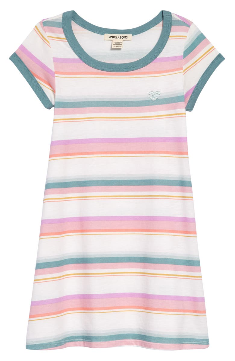 BILLABONG Play Parade Stripe T-Shirt Dress, Main, color, MULTI