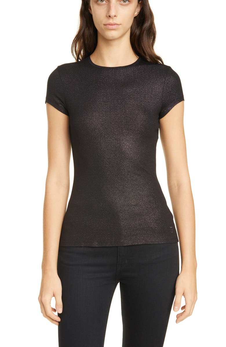TED BAKER LONDON Layny Metallic Tee, Main, color, CHARCOAL