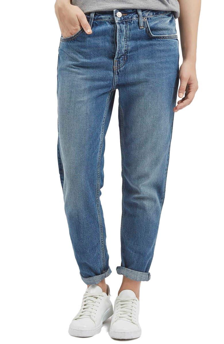 TOPSHOP Moto 'Hayden' Boyfriend Jeans, Main, color, 400