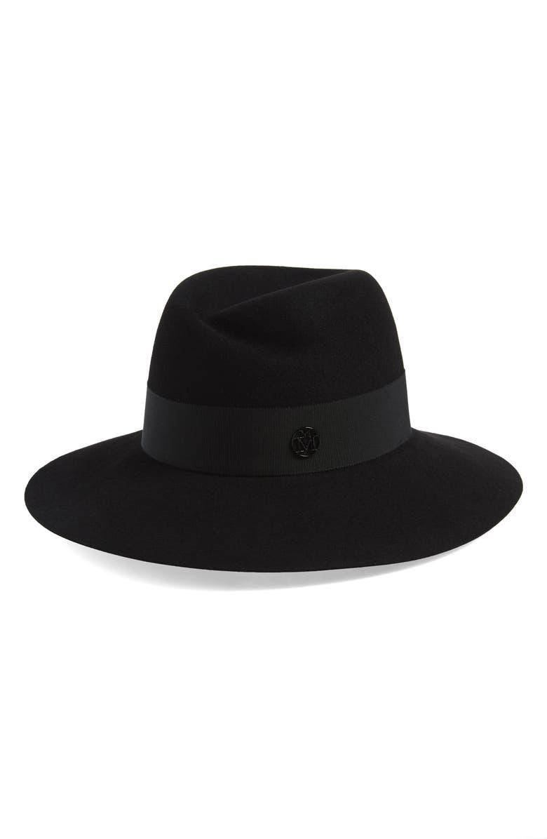 MAISON MICHEL Virginie Fur Felt Hat, Main, color, BLACK