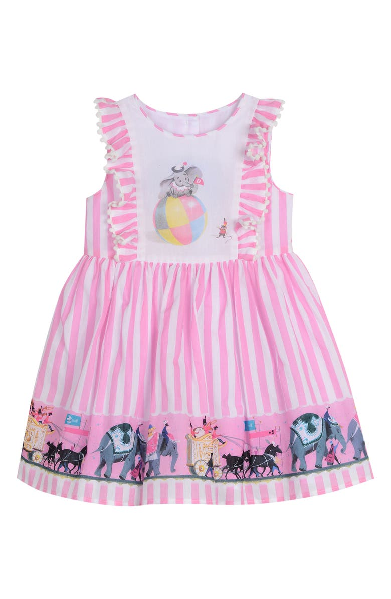 PIPPA & JULIE x Disney Dumbo Fit & Flare Dress, Main, color, PINK/ WHITE