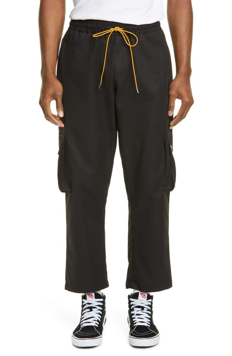 RHUDE Classic Cargo Pants, Main, color, BLACK