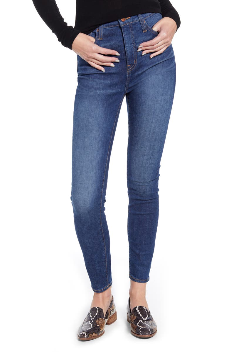 MADEWELL Curvy High Waist Skinny Jeans, Main, color, MOREAUX WASH