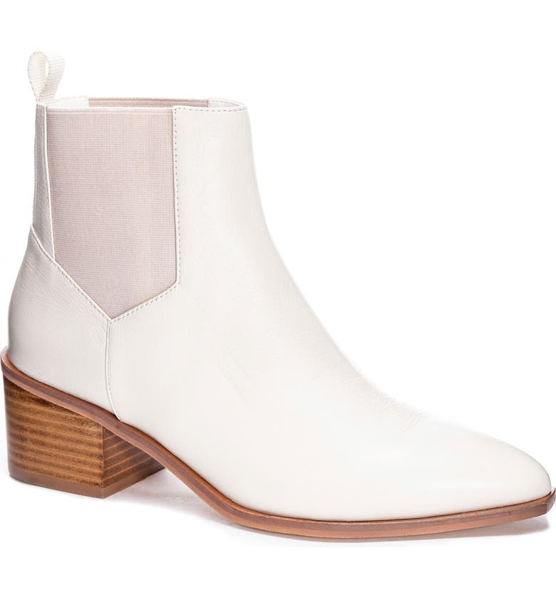 CHINESE LAUNDRY Filip Chelsea Bootie, Main, color, ECRU LEATHER