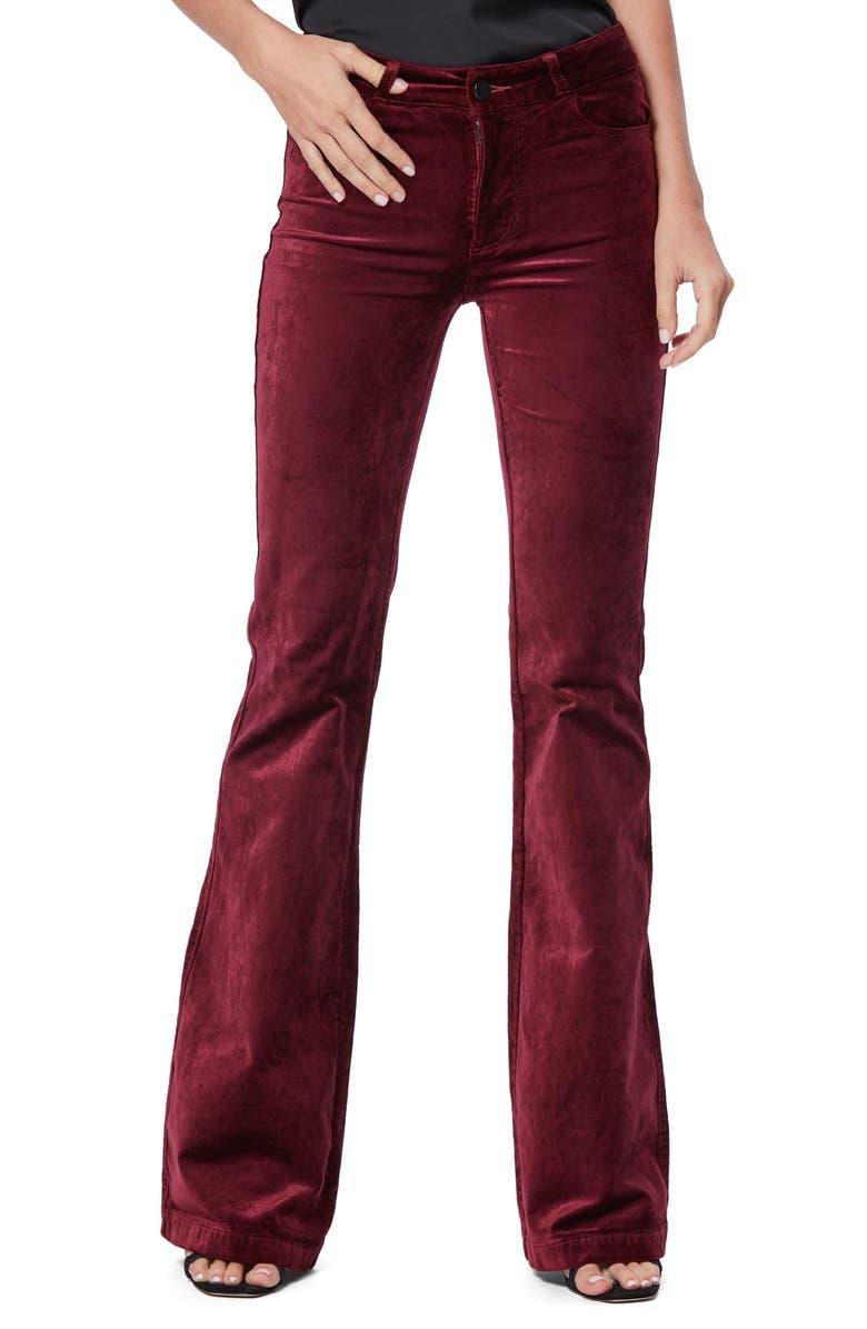 PAIGE Genevieve Flare Velvet Pants, Main, color, 930