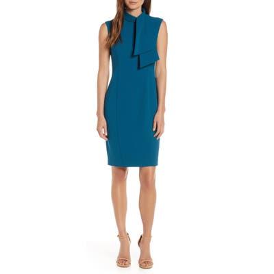 Harper Rose Tie Neck Sheath Dress