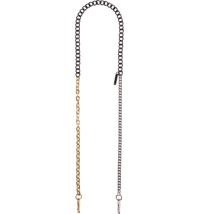 THE MARC JACOBS Chain Guitar Bag Strap, Main, color, MULTI RUST/ COPPER
