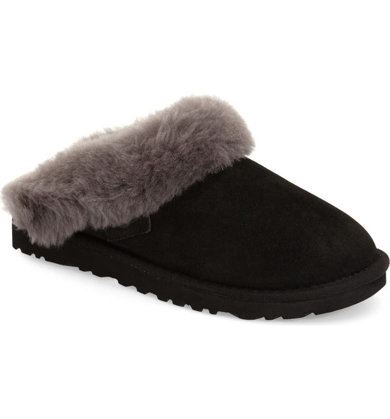 fb3fa065be485 'Cluggette' Genuine Shearling Indoor/Outdoor Slipper, Main, color, ...