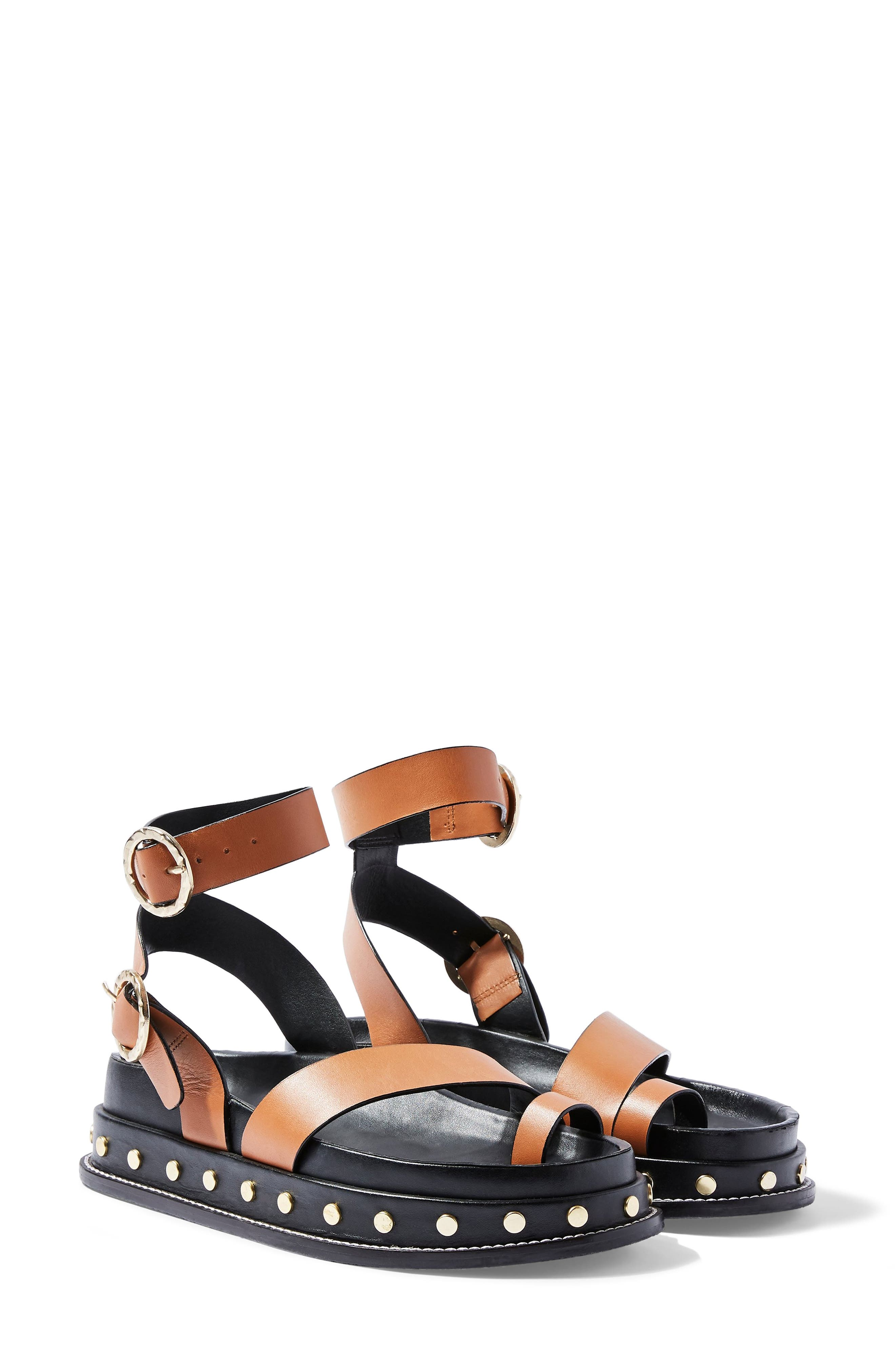 Topshop Fawn Studded Platform Sandal (Women)