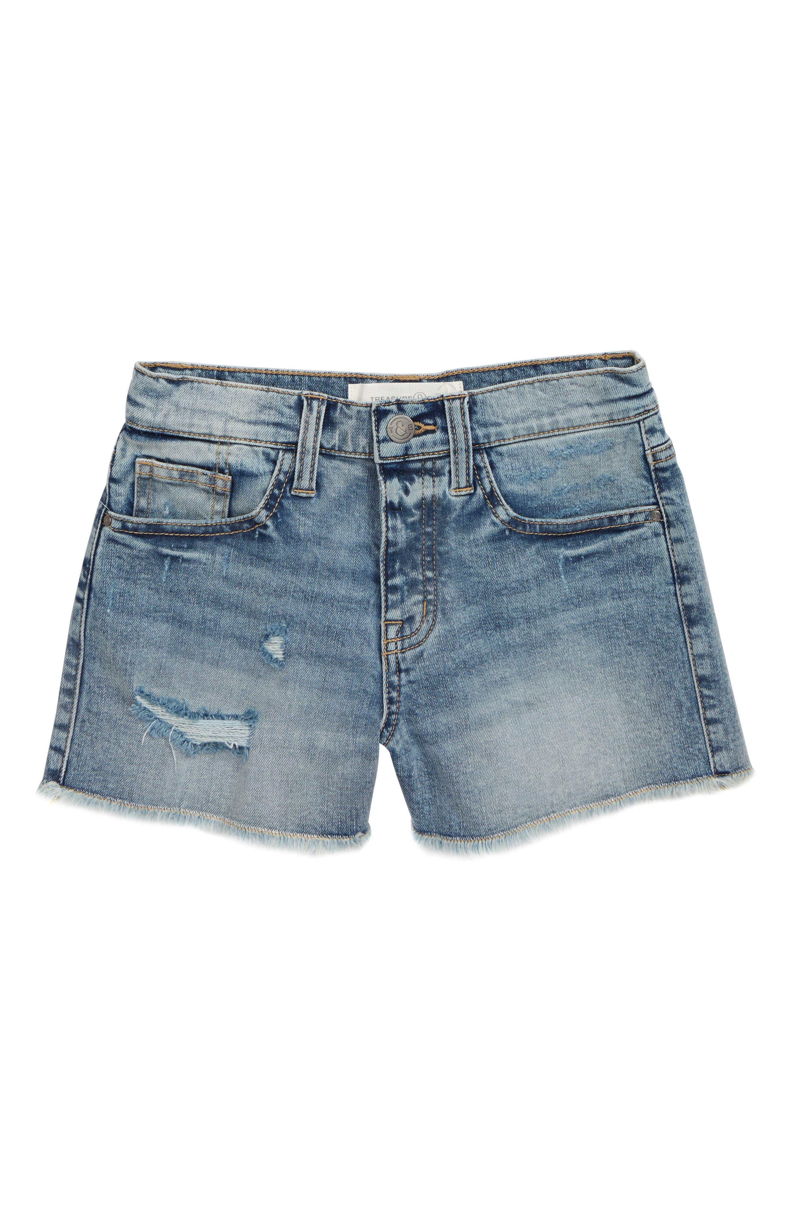 Girls Treasure  Bond Straight Leg Cutoff Denim Shorts