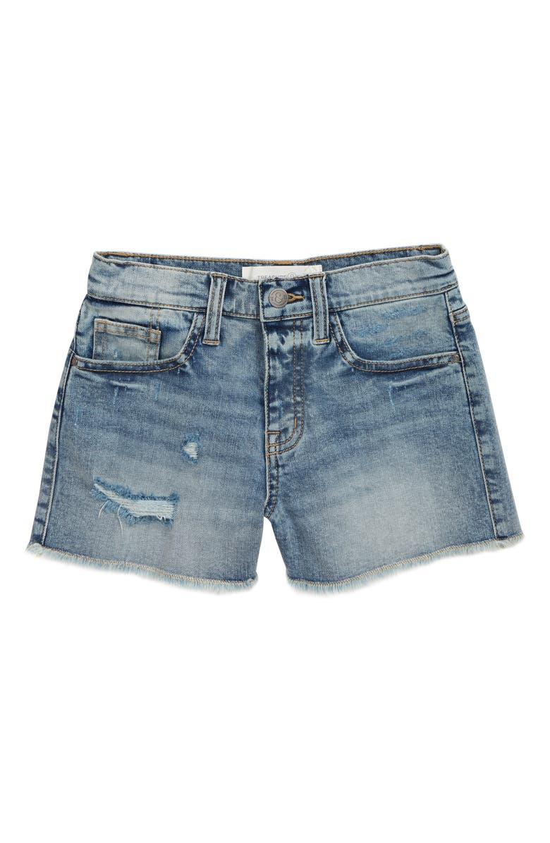 TREASURE & BOND Straight Leg Cutoff Denim Shorts, Main, color, MID VINTAGE WASH