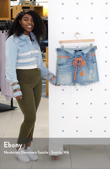 Sloane Foldover Waist Cutoff Denim Shorts, sales video thumbnail