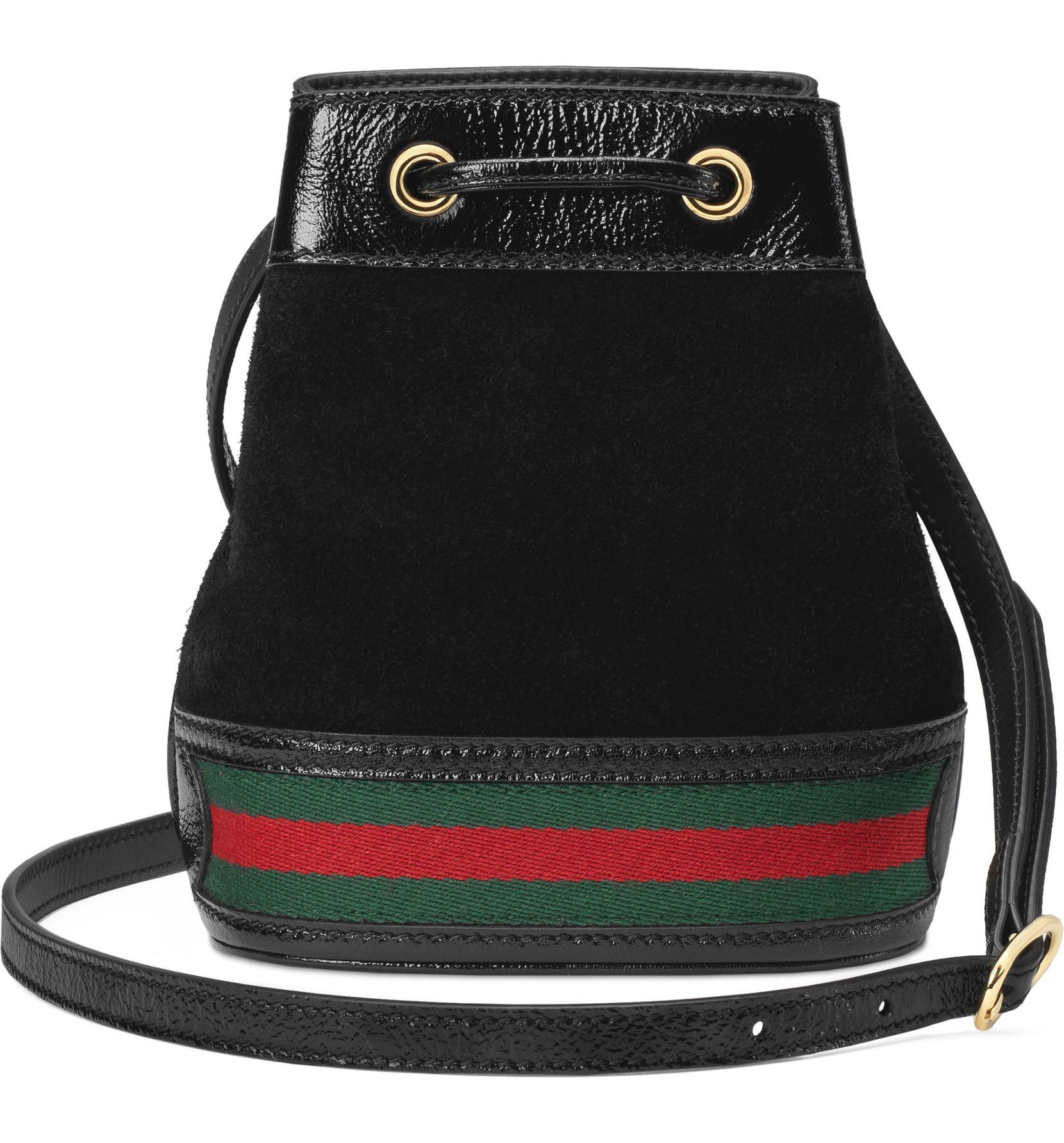 910f9d10e Gucci Mini Ophidia Suede & Leather Bucket Bag | Nordstrom