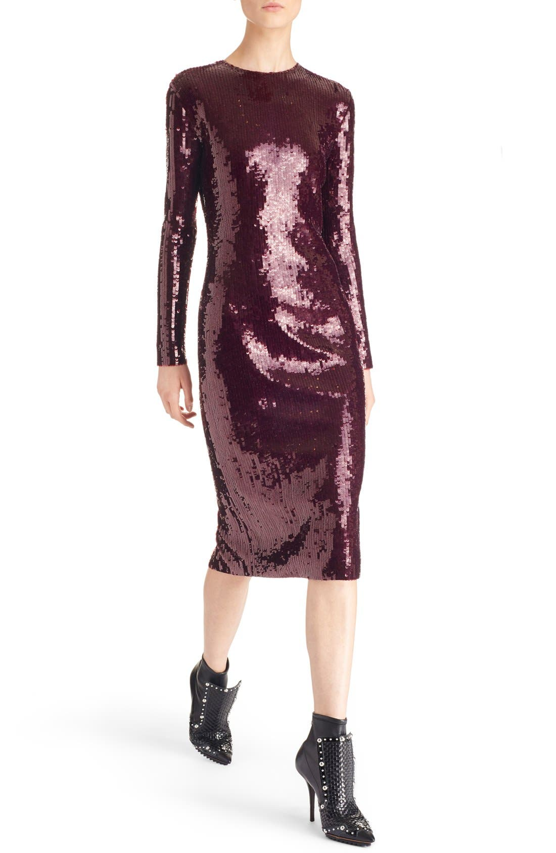 ,                             Sequin Sheath Dress,                             Alternate thumbnail 5, color,                             930