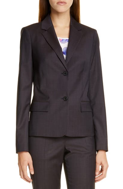 1adef06e6 Boss Jarana Rich Check Wool Suit Jacket In Terra Fantasy   ModeSens