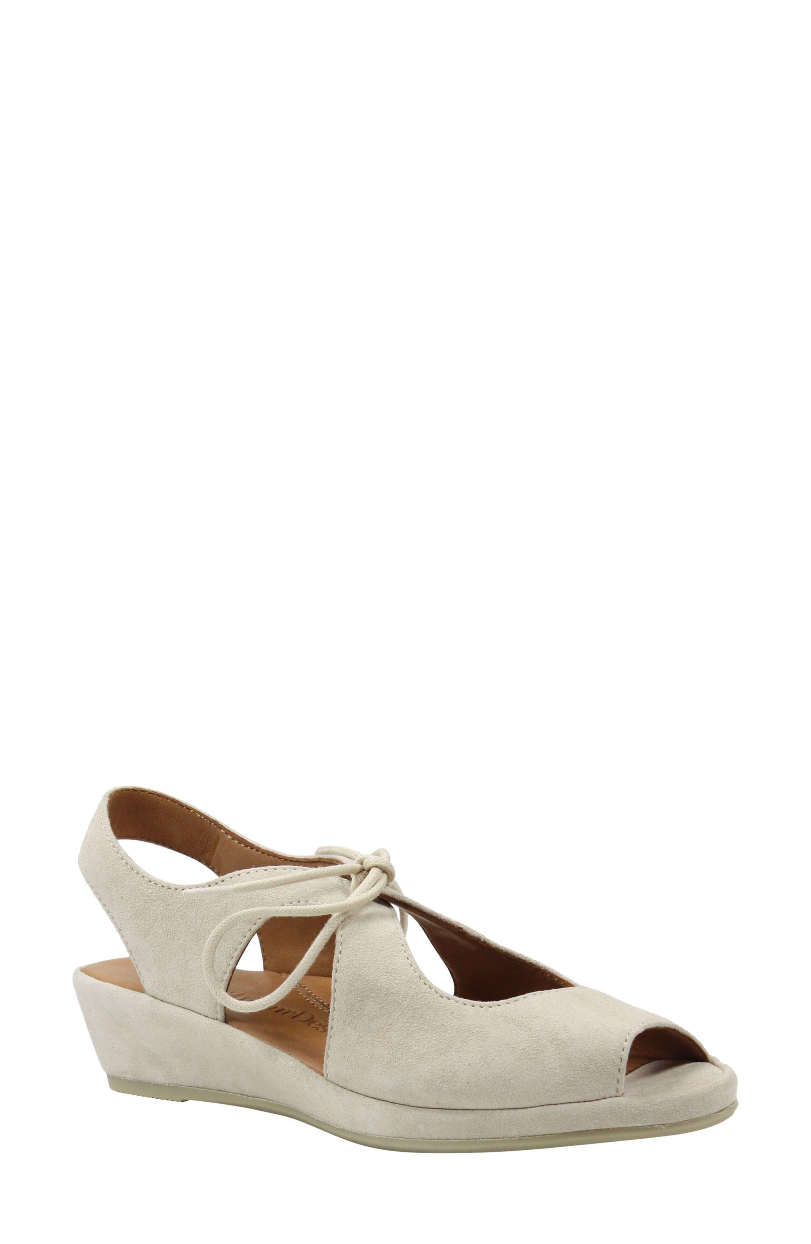 Vintage Sandal History: Retro 1920s to 1970s Sandals Womens LAmour Des Pieds Brettany Sandal Size 9 M - Beige $119.90 AT vintagedancer.com
