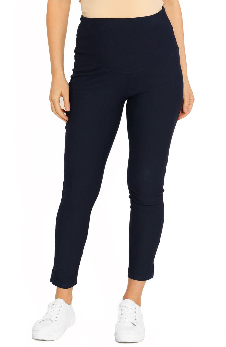 ANGEL MATERNITY Deluxe Tummy Support High Waist Maternity Pants, Main, color, BLUE