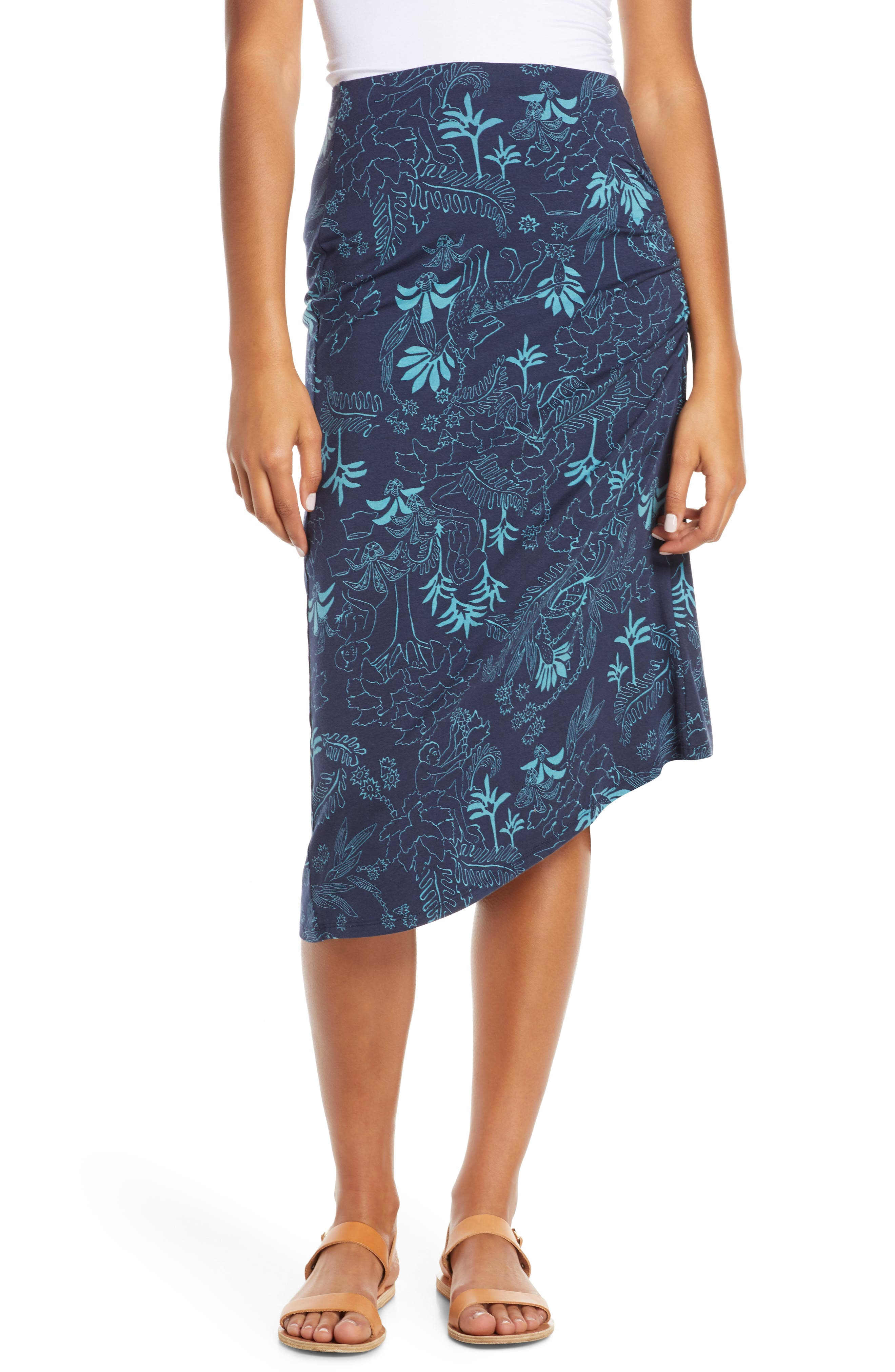 ,                             Dream Song Skirt,                             Main thumbnail 1, color,                             BEYOND EXTINCT/ NEO NAVY