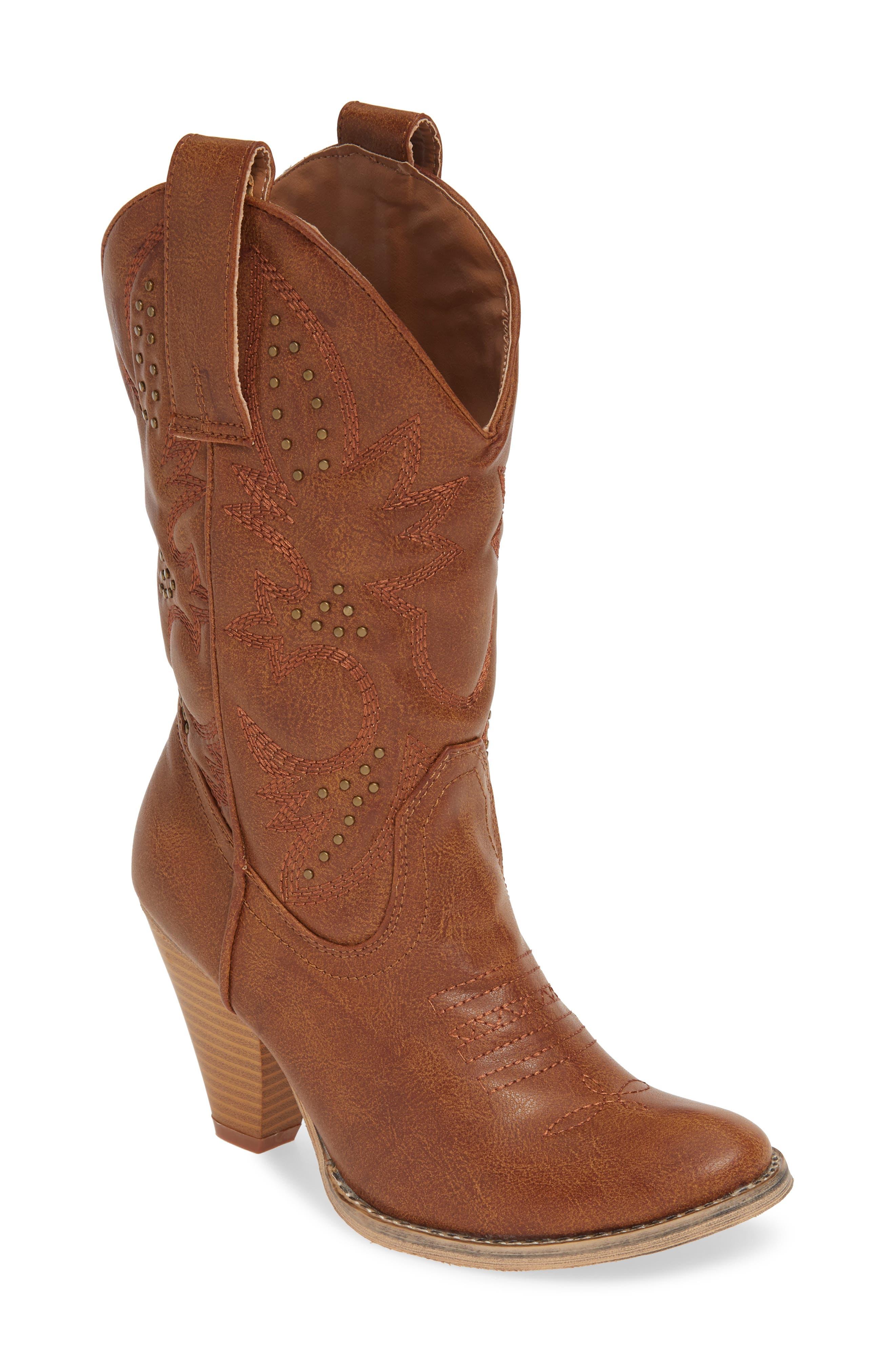 Very Volatile Wagonwheel Western Boot, Brown