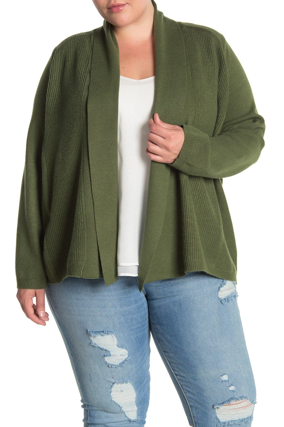 Image of Cyrus Draped Open Front Cardigan