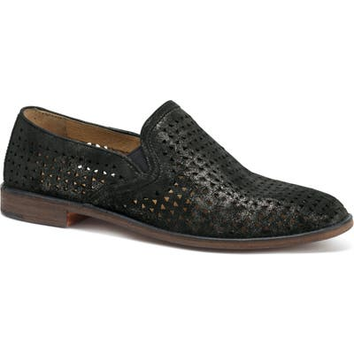Trask Ali Perforated Loafer- Black