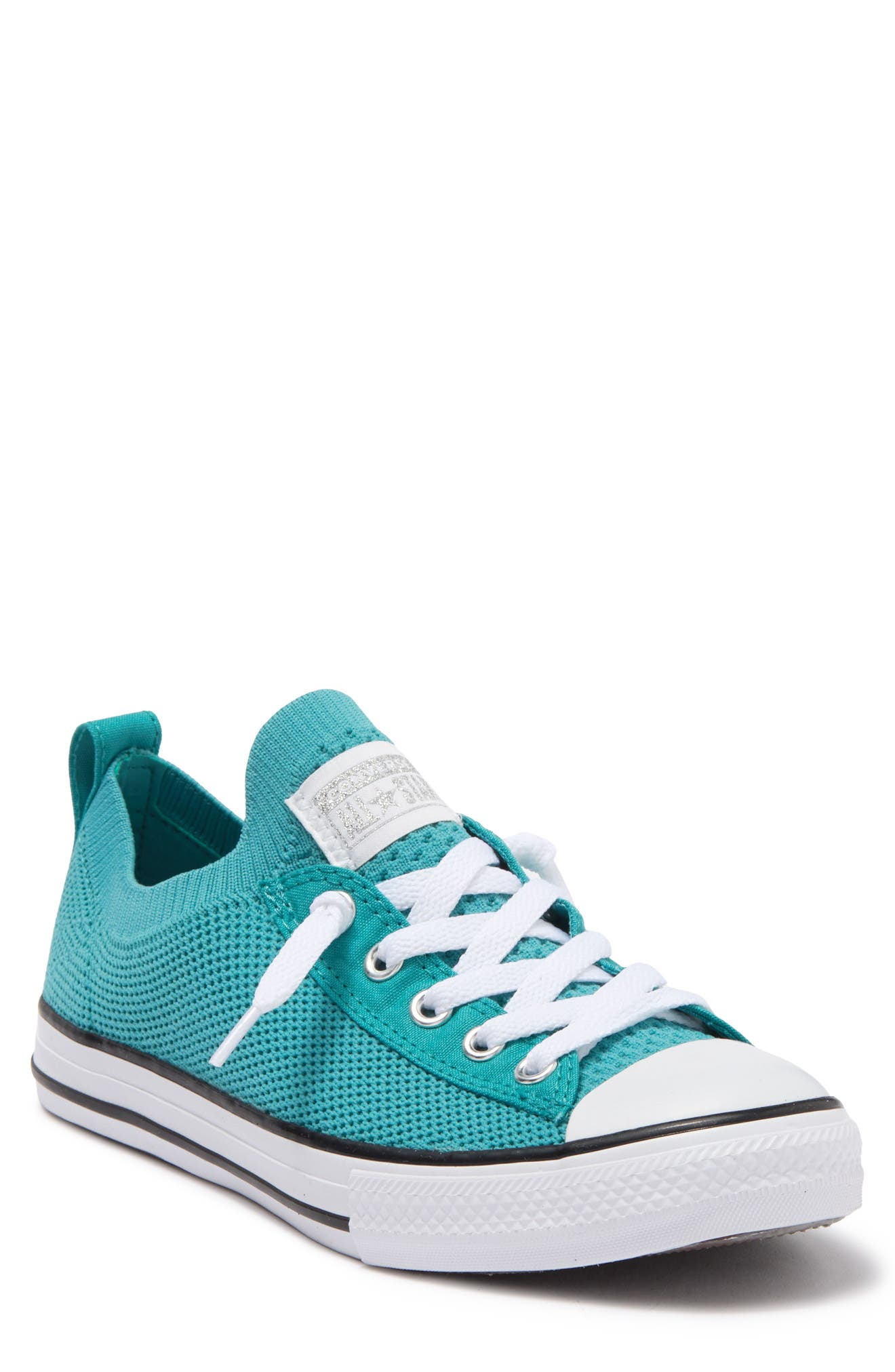 Converse Kids' Chuck Taylor All Stars Knit Slip-on Sneaker In Harbor Teal/whi