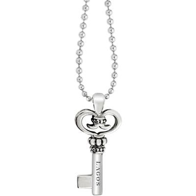 Lagos Sterling Silver Key Long Strand Pendant Necklace