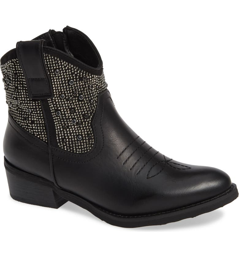 VERY VOLATILE Toulon Western Boot, Main, color, BLACK LEATHER