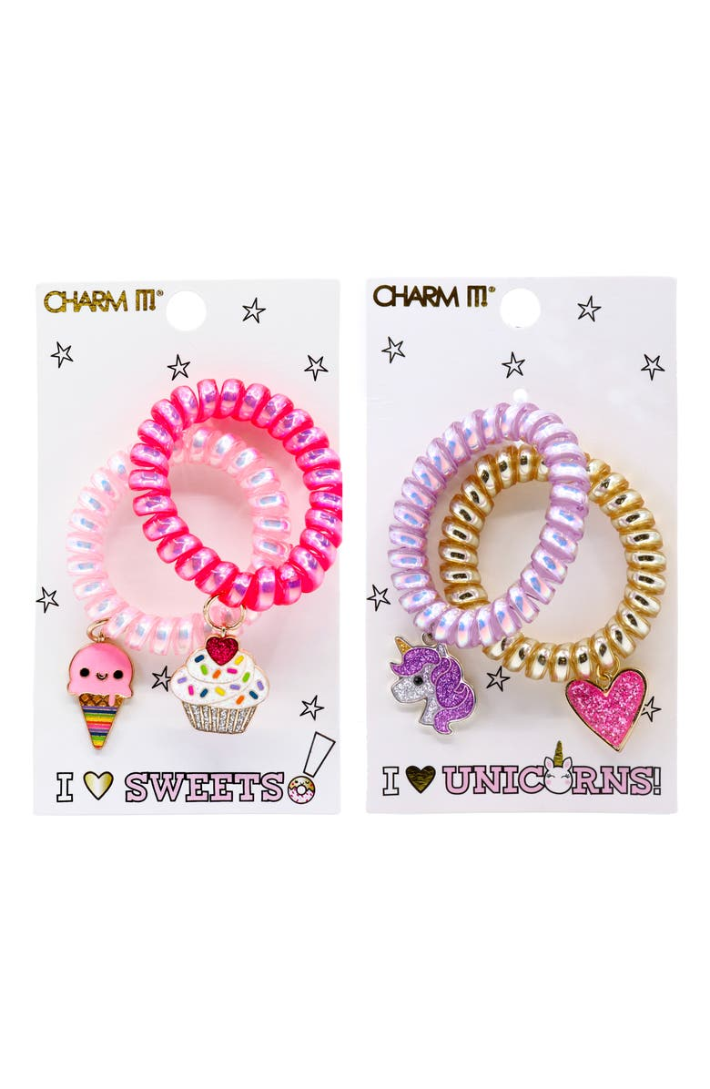CHARM IT!<SUP>®</SUP> Charm It Set of 4 Coils with Glitter Charms, Main, color, 960