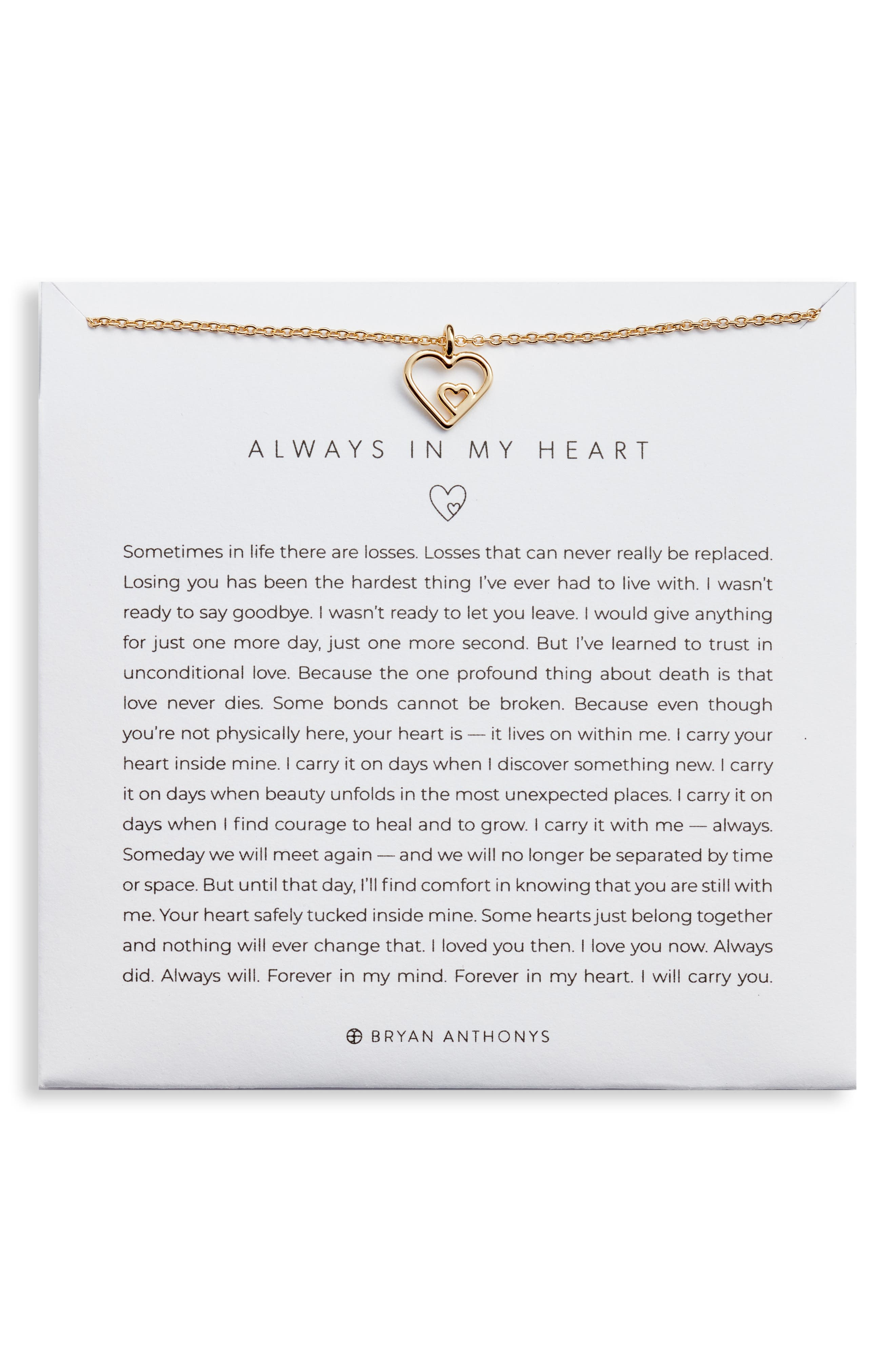 Always in My Heart Pendant Necklace in Silver at Nordstrom