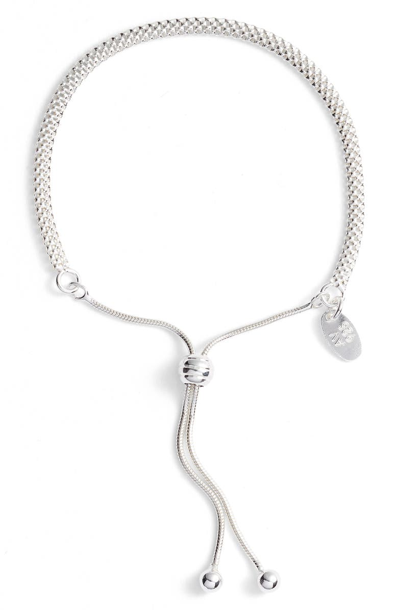 ARGENTO VIVO Mesh Slider Bracelet, Main, color, SILVER