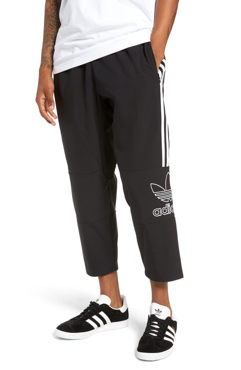ADIDAS ORIGINALS Outline Cropped Pants, Main, color, BLACK