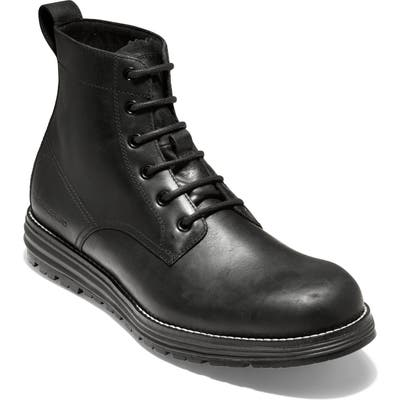 Cole Haan Original Grand Waterproof Plain Toe Boot, Black