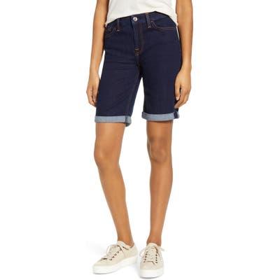 Jen7 By 7 For All Mankind High Waist Denim Bermuda Shorts, Blue