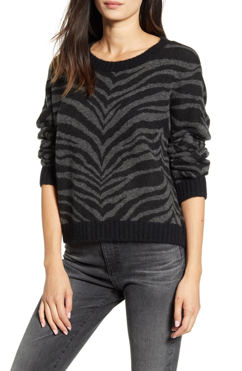 RAILS Chance Zebra Sweater, Main, color, 023