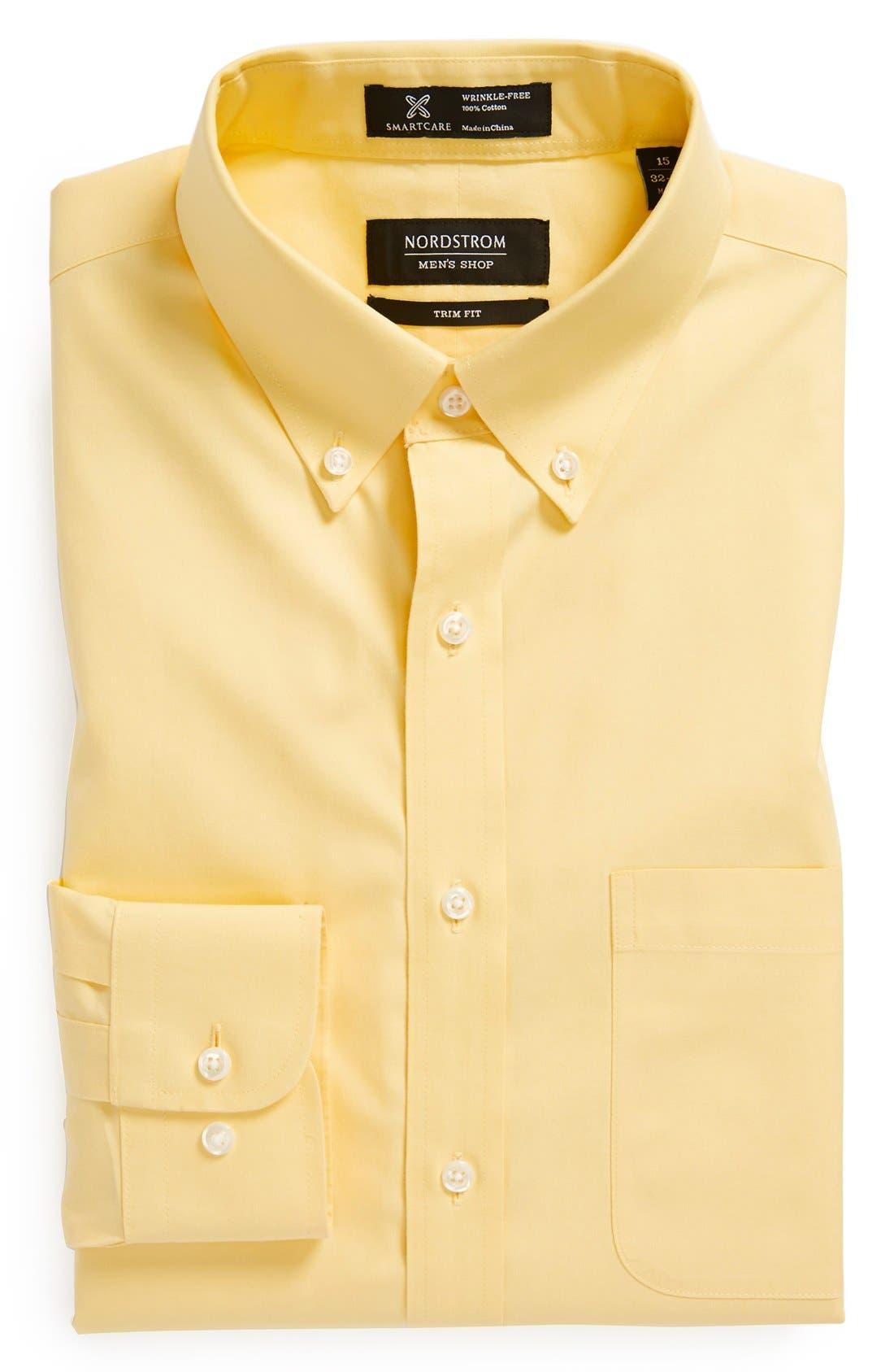 ,                             Smartcare<sup>™</sup> Trim Fit Solid Dress Shirt,                             Main thumbnail 42, color,                             700