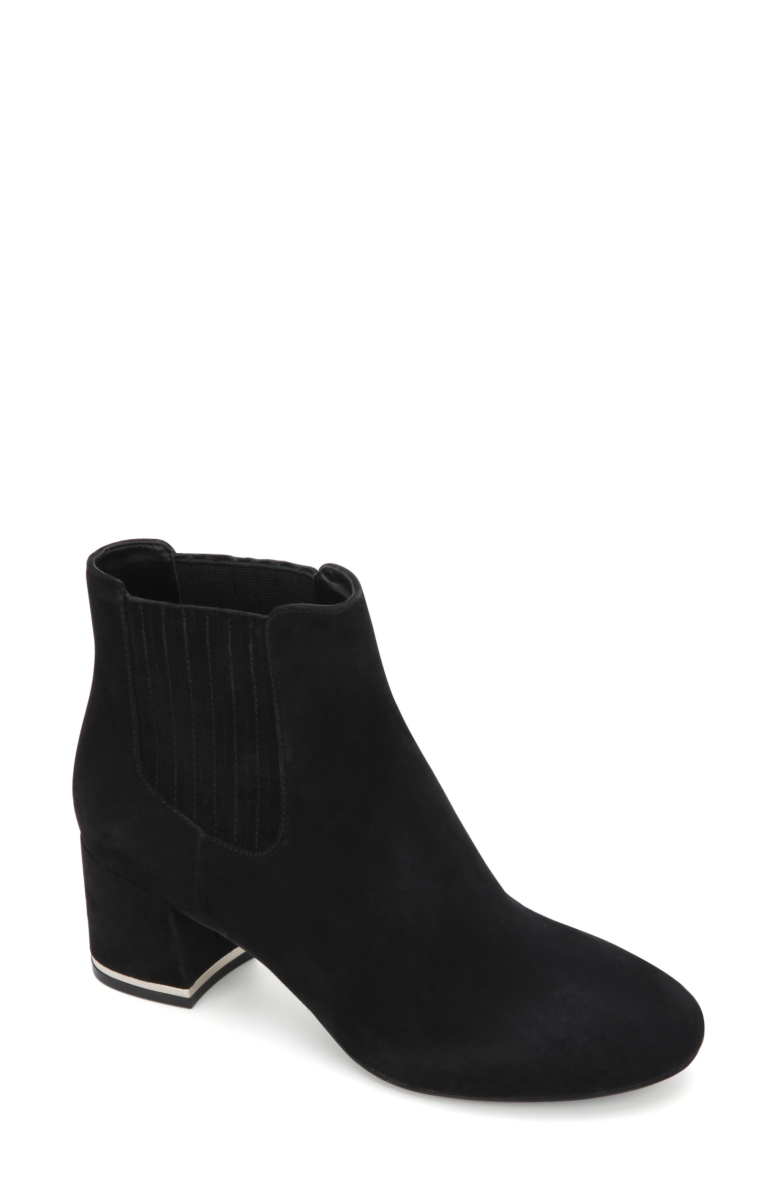 Complete your look with the contemporary finesse of this streamlined block-heel bootie featuring a memory foam-cushioned footbed. Style Name: Kenneth Cole New York Edina Bootie (Women). Style Number: 6099236. Available in stores.