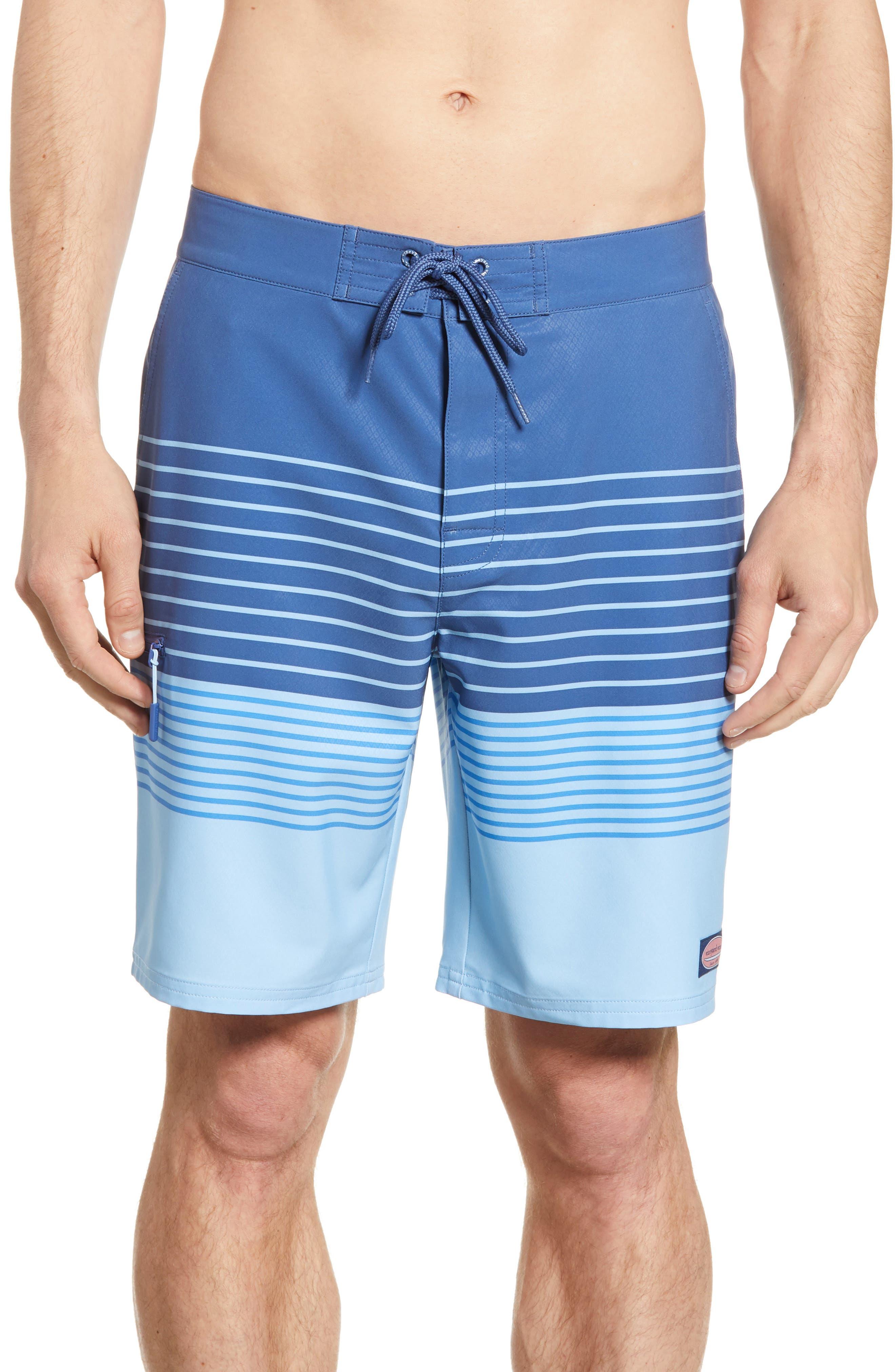 Vineyard Vines Stripe Board Shorts, Blue