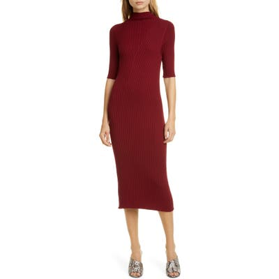 Joie Bryella Ribbed Dress, Red
