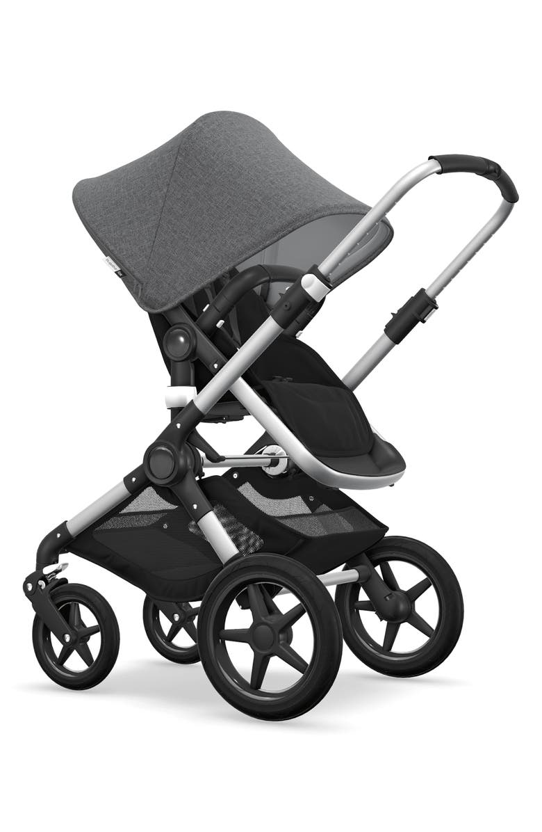 BUGABOO Fox Complete Stroller, Main, color, BLACK/ GREY MELANGE